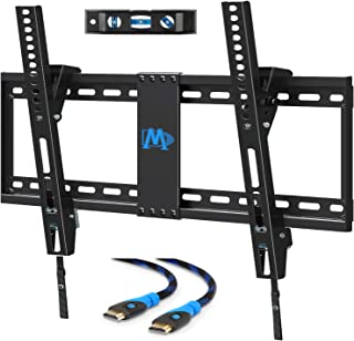 Mounting Dream Tilting TV Wall Mount for Most 37-70 Inches Flat Screen TVs, TV Mount - Wall Mount TV Bracket up to VESA 600x400mm and 132 lbs - Easy to Install on 16