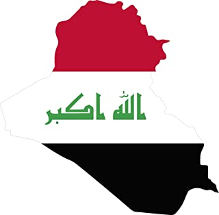 Map with Flag Inside Iraq 4x4.3 Sticker Decal die Cut Vinyl - Made and Shipped in USA