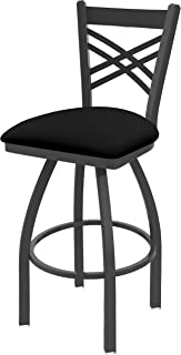 Holland Bar Stool Company 820 Catalina 25-Inch Counter Stool with Pewter Finish, Black Vinyl Seat and 360 Swivel