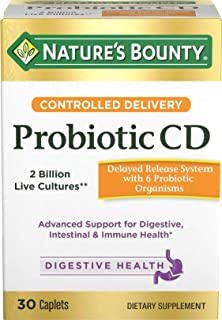 Nature's Bounty Controlled Delivery Probiotic CD Caplets 30 ea (Pack of 2)
