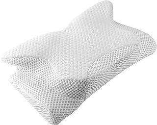 Feagar Almohada Cervical Elástica, Almohada Ortopédica Antironquidos para Dormir de Espuma Viscoelástica Cuello, Adecuada para Dormir de Lado y Boca Arriba, 62 * 35 * 9/11CM