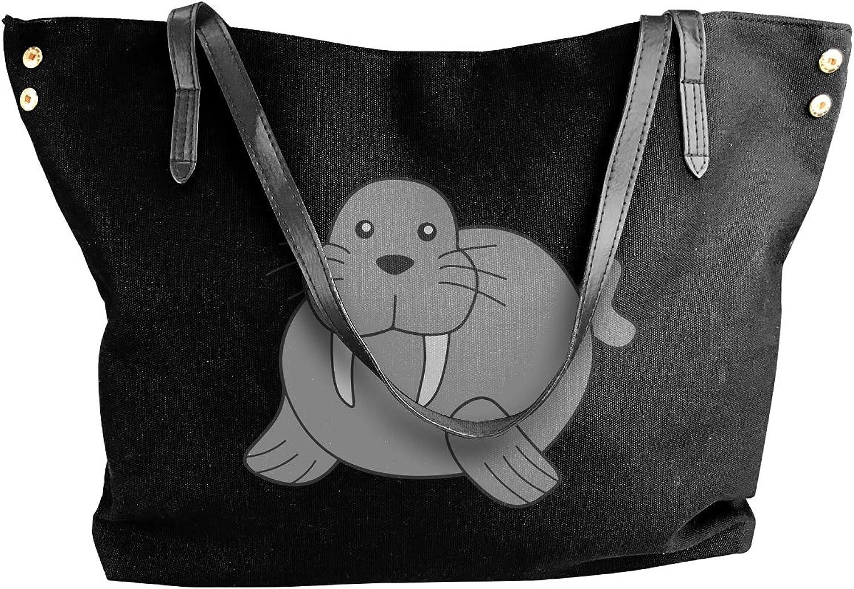 Walrus Women'S Leisure Canvas Shoulder Bag For Travel Handbag