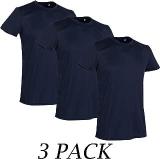 3 Pack-Active By Stedman Mens Sport T-Shirt