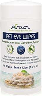 Arava Pet Eye Wipes - for Dogs Cats Puppies & Kittens - 100 Count