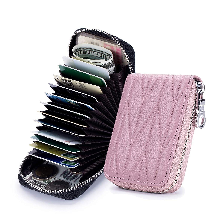 [imeetu] カードケース じゃばら Mini型 24枚収納 コンパクト 牛本革 磁気防止 スキミング防止 小銭入れ 短財布 メンズ レディース