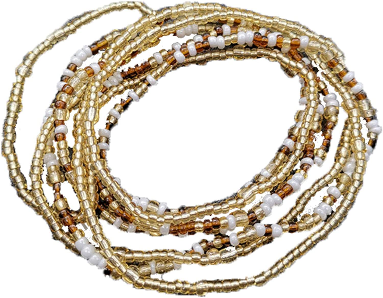 Althrorry Waist Beads Body Jewelry, Colorful Belly Beads, Bead Jewelry, Belly Chains, Waist Chain (2 Piece)