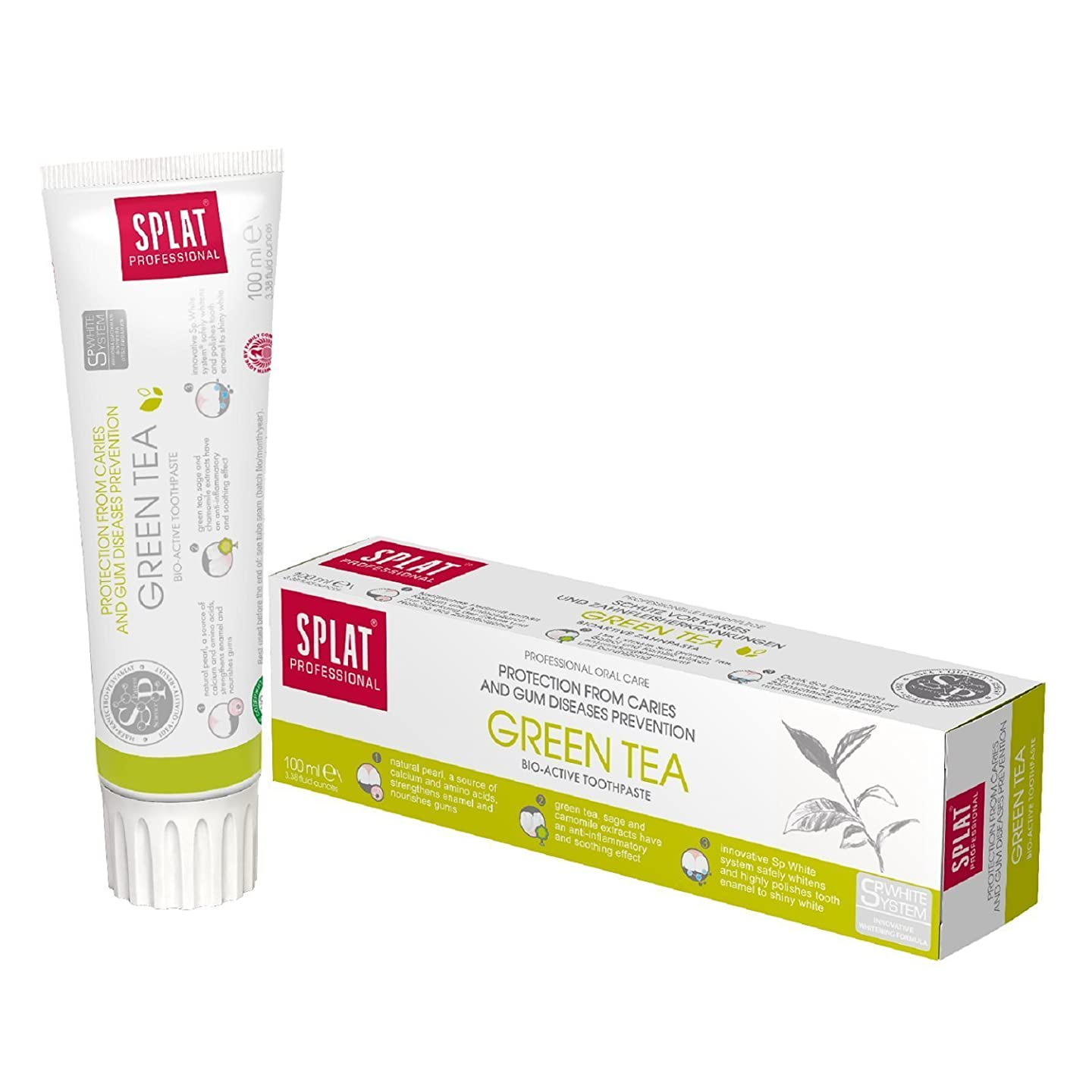 難民立証するラケットToothpaste Splat Professional 100ml (Green tea)