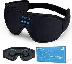Sleep Headphones, Bluetooth 5.0 Wireless 3D Eye Mask, WATOTGAFER Sleeping Headphones for Side Sleepers, Washable Travel Mu...