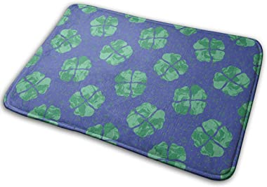 -Leaf Clover Carpet Non-Slip Welcome Front Doormat Entryway Carpet Washable Outdoor Indoor Mat Room Rug 15.7 X 23.6 inch