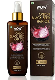 WOW Skin Science Onion Hair Oil With Black Seed Oil Extracts - Controls Hair Fall - No Mineral Oil, Silicones & Synthetic ...