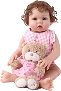 CHAREX Belly Reborn Baby Dolls, 18 Inches Full Body Silicone Vinyl ,Weighted Handmade Newborn Gifts Doll