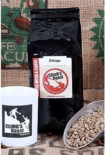 Climb's Roast Gourmet Whole Bean Roasted Coffee, Organic, Non-GMO, Fair Trade Certified, Rain Forest Alliance 100% ARABICA Beans (Ethiopian Blend, 1 lbs)