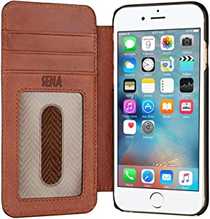 Sena Ultra Thin Wallet Book, Thinnest Book Style Wallet case Solution The iPhone 8/7 / 6 (Cognac)