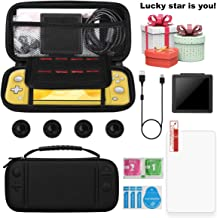 Carry Case for Nintendo Switch Lite - XVZ Portable Travel Case with Accessories,Screen Protectors,charging cable,Storage case,4 Thumb Grips Caps for Switch Lite Games & Accessories