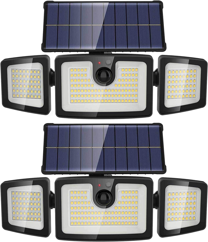 Onforu Ranking TOP6 2 Pack Solar Motion Sensor LEDs Seattle Mall 2400mA Outdoor 202 Light