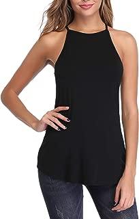 FENSACE Womens Halter Neck Camisole Sleeveless Loose Casual Summer Tank top
