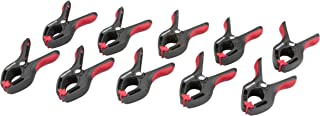 TEKTON 3/4-Inch Nylon Spring Clamps, 3/4-Inch Jaw Opening, 1-Inch Throat Depth, 10-Piece | 3901