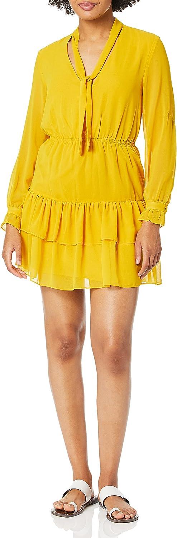 BB Dakota by Steve Madden Women's 9 to 5 V-Nevk Dress