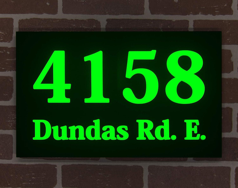HOMIDEA quality assurance LED lighted Address Max 57% OFF Sign. Light Ho House Numbers. Up Led