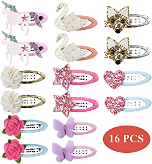 inSowni Cute Cat Ear Hair Clips Bow Unicorn Butterfly Flower Barrettes for Baby Girl Toddlers Kids