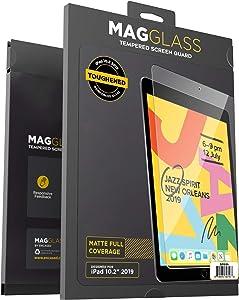 Magglass iPad 7th Generation Matte Screen Protector (10.2 2019/2020 Apple Latest Model) Anti Glare Tempered Glass (Anti-Scratch/Bubble Free) Screen Guard