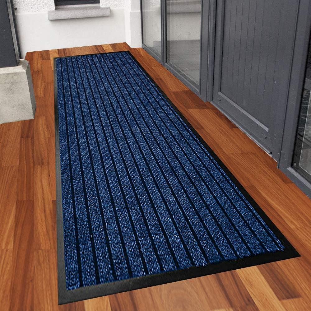 Black Barrier Mat 45 X 75 cm Heavy Duty Anti Slip Dirt Trapper Doormats Inside Washable Mats and Rugs Door Mat Outdoor Rubber Matting Waterproof Floor Mat