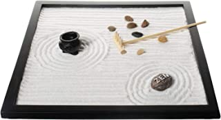 Tabletop Sand Zen Garden with Rocks and rake for Your Desk from Tatum & Shea