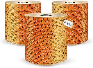 DQ-PP POLYPROPYLENSEIL | 8mm | 100m | ORANGE Polypropylen Seil | Tauwerk PP Flechtleine Textilseil Reepschnur Leine Schnur Festmacher Rope Kordel Kunststoffseil Kletterseil geflochten