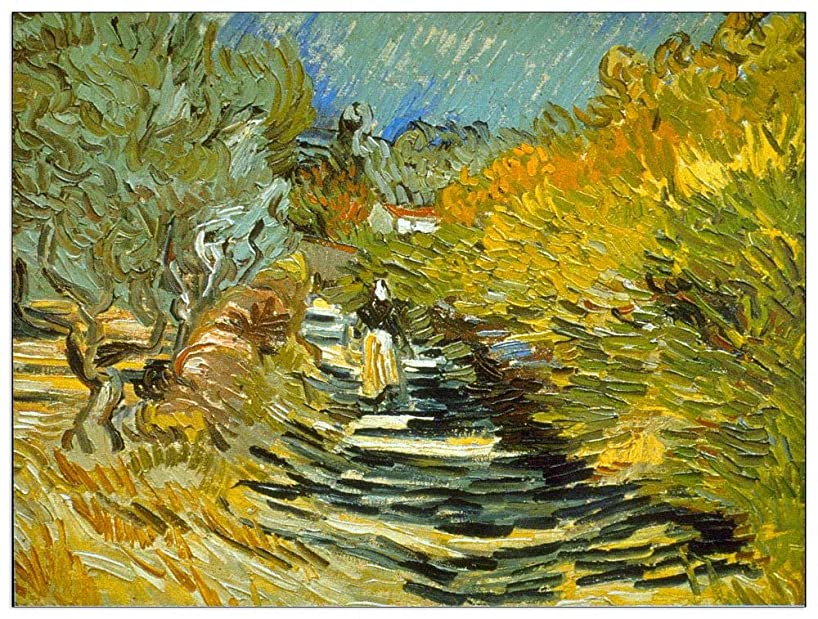 ArtPlaza TW90842 Van Gogh Vincent - Saint-Remy Decorative Panel 35.5x27.5 Inch Multicolored