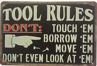 +Urbano Tool Rules Vintage Retro Tin Sign Home Pub Bar Deco Wall Decor Poster Size 8