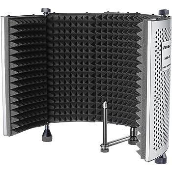 Neewer NW-5 Pannello di Registrazione Vocale Portatile Regolabile Fonoassorbente Regolabile, Schermo del Microfono con Isolamento Acustico