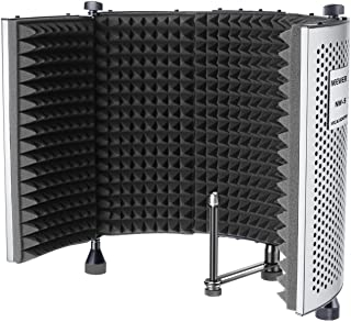 Neewer NW-5 Foldable Adjustable Portable Sound Absorbing Vocal Recording Panel, Aluminum Acoustic Isolation Microphone Shi...
