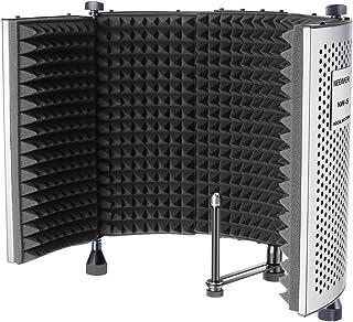Neewer NW-5 Vikbar justerbar bärbar ljudabsorberande röstinspelningspanel, aluminium akustisk isolering mikrofonskydd med ...