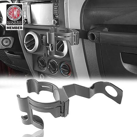 Multi-Function Cup Holder Phone Mount Bolt-on Stand Bracket Organizer for 2011-2018 Jeep Wrangler JK JL /& Unlimited