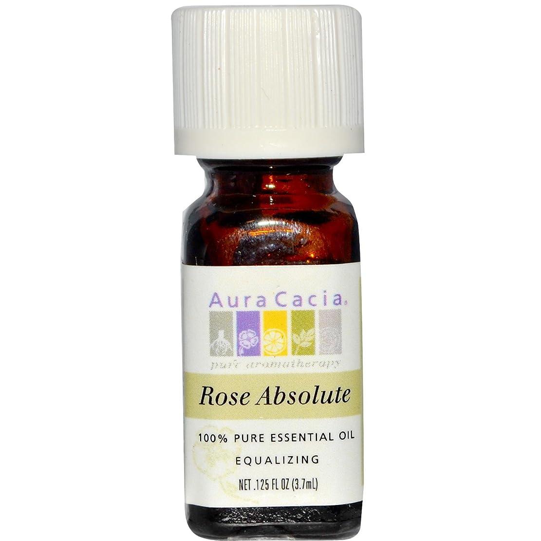ライトニング補う二度Aura Cacia(オーラカシア)ローズ アブソルート Rose absolute 3.7ml[並行輸入品]
