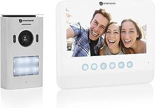 """Sistema de videoportero Smartwares DIC-22212, 720p HD, Monitor LCD de 7"""" (17,8 cm), Cámara orientable, Función de grabación automática, Visión nocturna, Resistente al agua"""