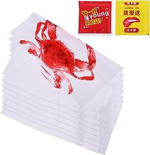 ULTECHNOVO 100 szt. jednorazowe śliniaki z kraba plastikowe owoce morza fartuch dla dorosłych krab uczta śliniaki olejoodp...