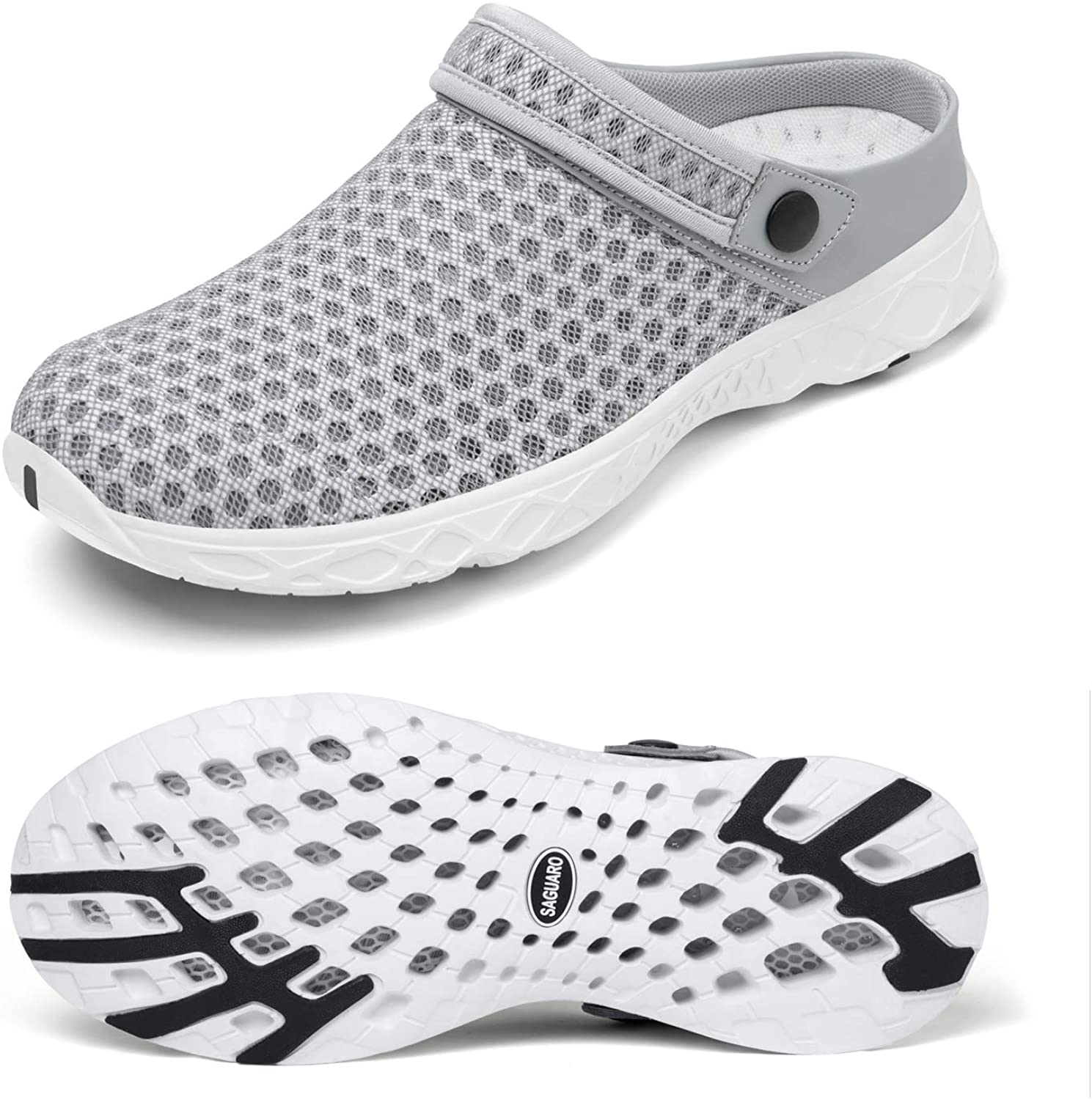 SAGUARO Unisex Garden Clogs Shoes Casual Slippers Womens Mens Quick Drying Sandals Summer Anti-Slip Beach Shoes