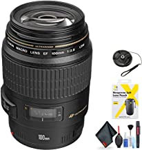 Canon EF 100mm f/2.8 Macro USM Lens for Canon EF Mount + Accessories (International Model)