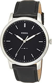 Fossil Mens Quartz Watch, Analog Display and Leather Strap FS5398