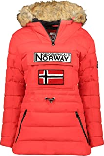 Geographical Norway - Abrigo acolchado para mujer, con capucha de piel sintética, modelo Belinda