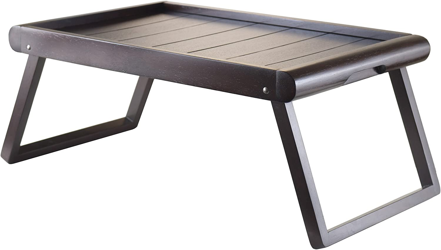 Wood Free shipping anywhere in the nation Elise Breakfast Bed U-Leg Tray Espresso Finish Max 86% OFF