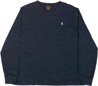 (ポロ ラルフローレン) ワンポイント 長袖 Vネック Tシャツ ネイビー系 Polo Ralph Lauren 1127 [並行輸入品]