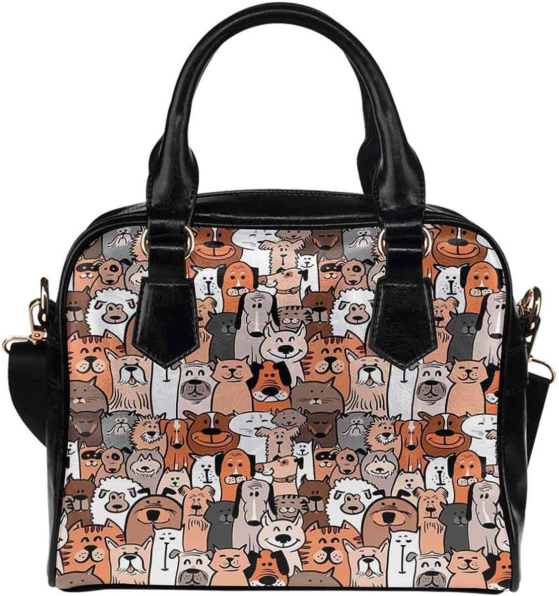Pet Cat Kitty Paw Print Challenge the lowest price of Japan Women's Shoulde Handbag unisex PU Leather Purse