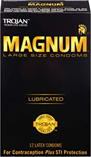 Trojan Lubricated Condom, Magnum, Large