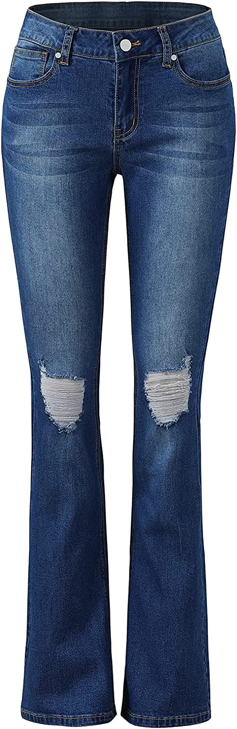 Women's Bell Jeans Max 66% OFF Pants Be super welcome Basic Stretch Ripped Casual Distressed