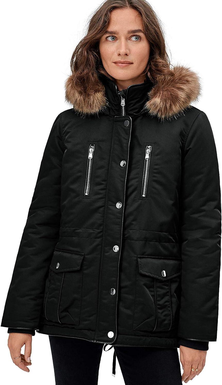 ellos Women's Plus Size 4-Pocket High-Low Parka Coat