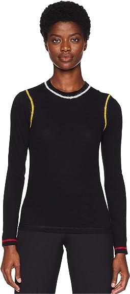 Lightweight Cotton Stripe Long Sleeve Shirt