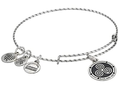 Alex and Ani Embossed Paint Charm, Triskelion Bangle (Rafaelian Silver) Bracelet