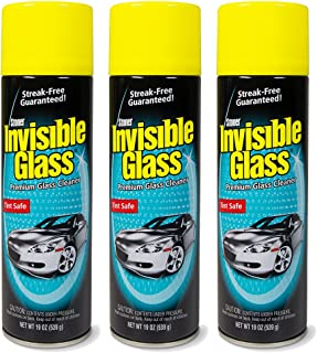 Invisible Glass 91164-3PK Premium Glass Cleaner 19-Ounce Can - Case of 3, 57. Fluid Pack
